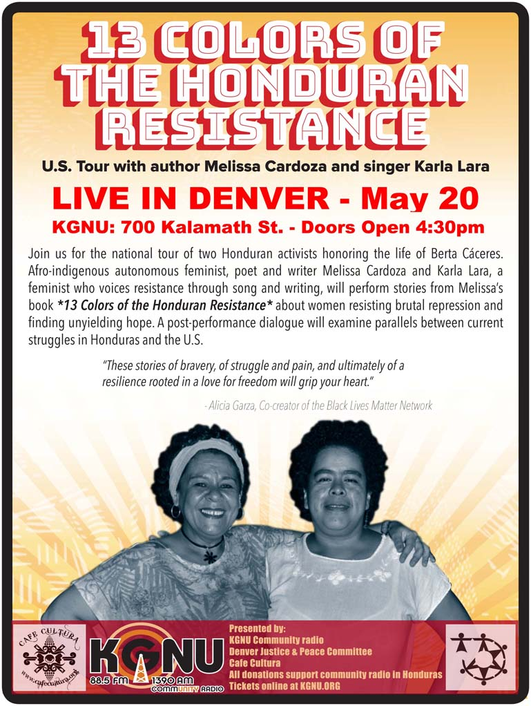 13 Colors of Resistance Tour in Denver. Saturday, May 20th 2017 at 4:30pm