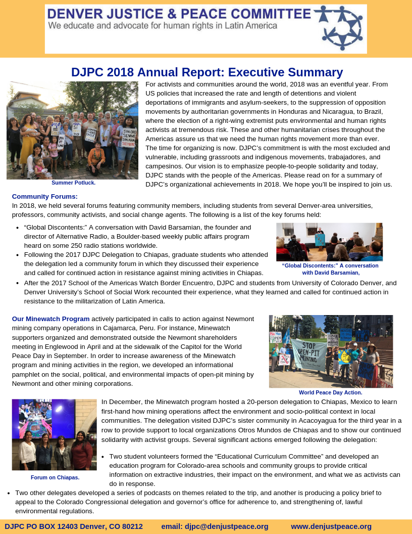 (English) 2018 Annual Report: Executive Summary