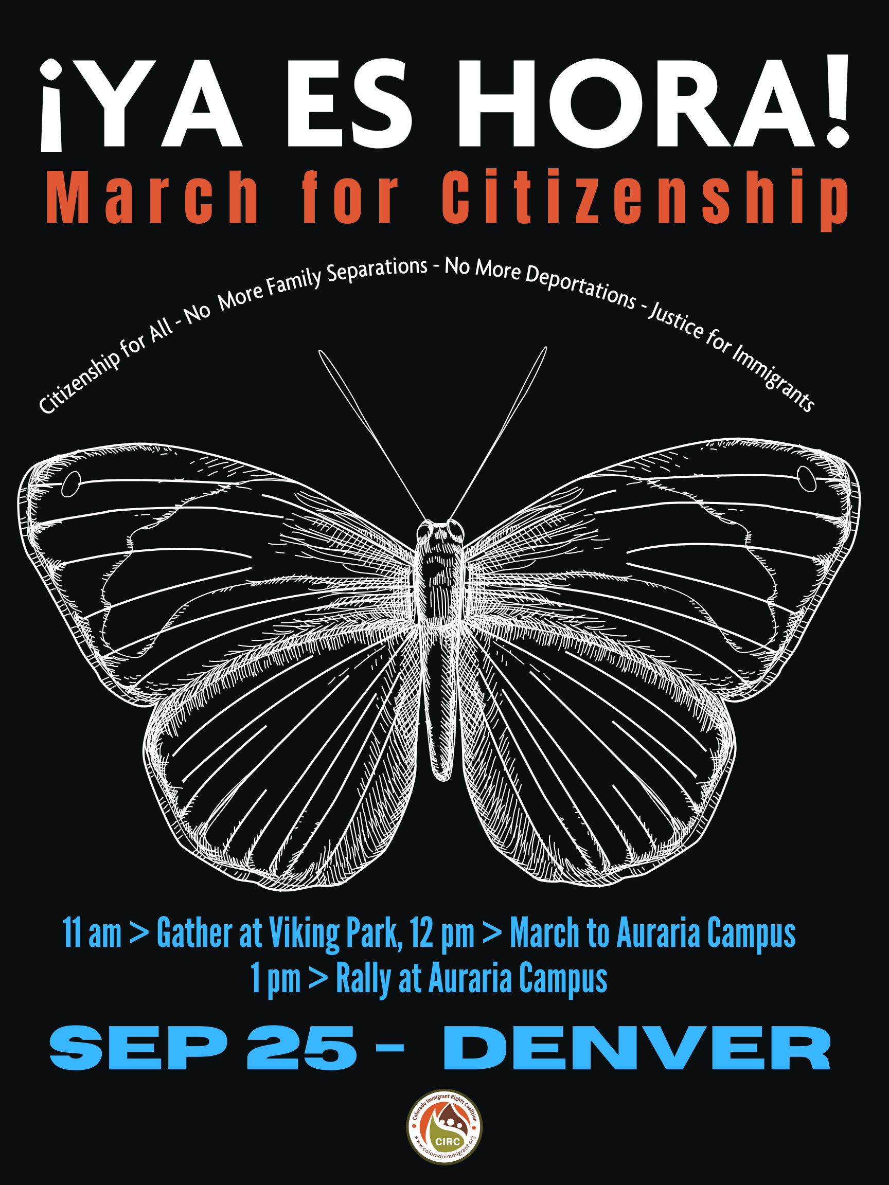 March for Citizenship: Sept 25! // ¡Marcha para la ciudadanía: 25 de septiembre!