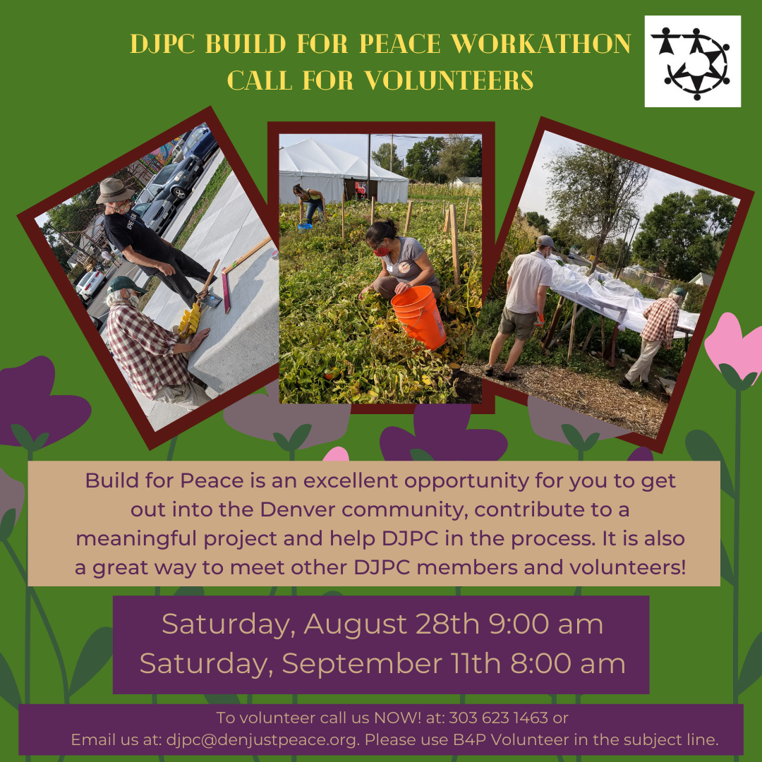 Call for Volunteers: Build for Peace 2021