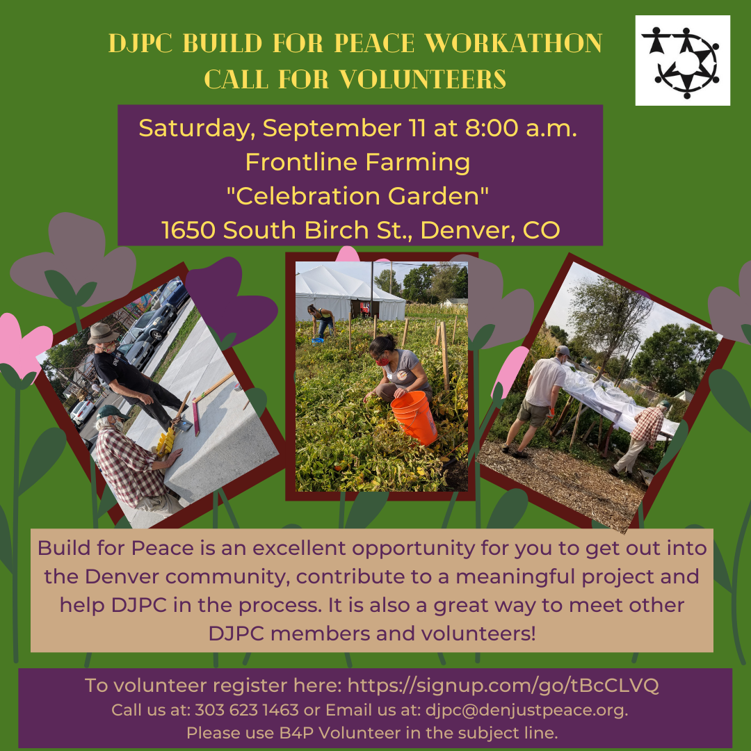 Build for Peace at Frontline Farming: September 11 at 8 a.m.