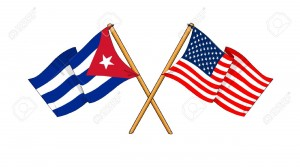 CubaUSAflags