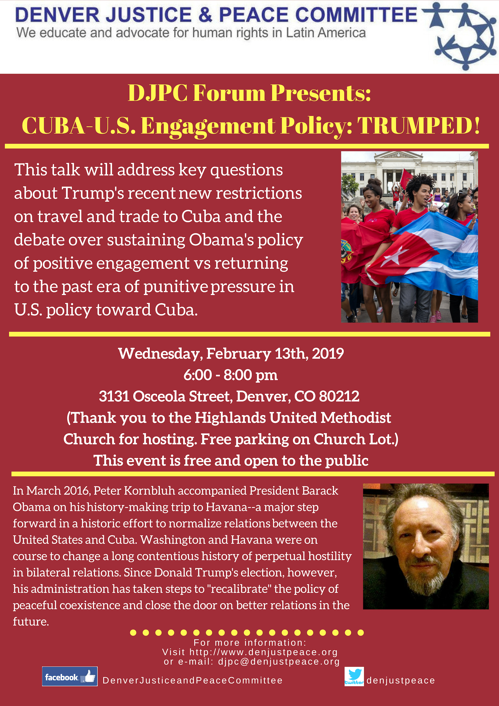 DJPC Forum: Cuba-USA. Engagement Policy: Trumped!