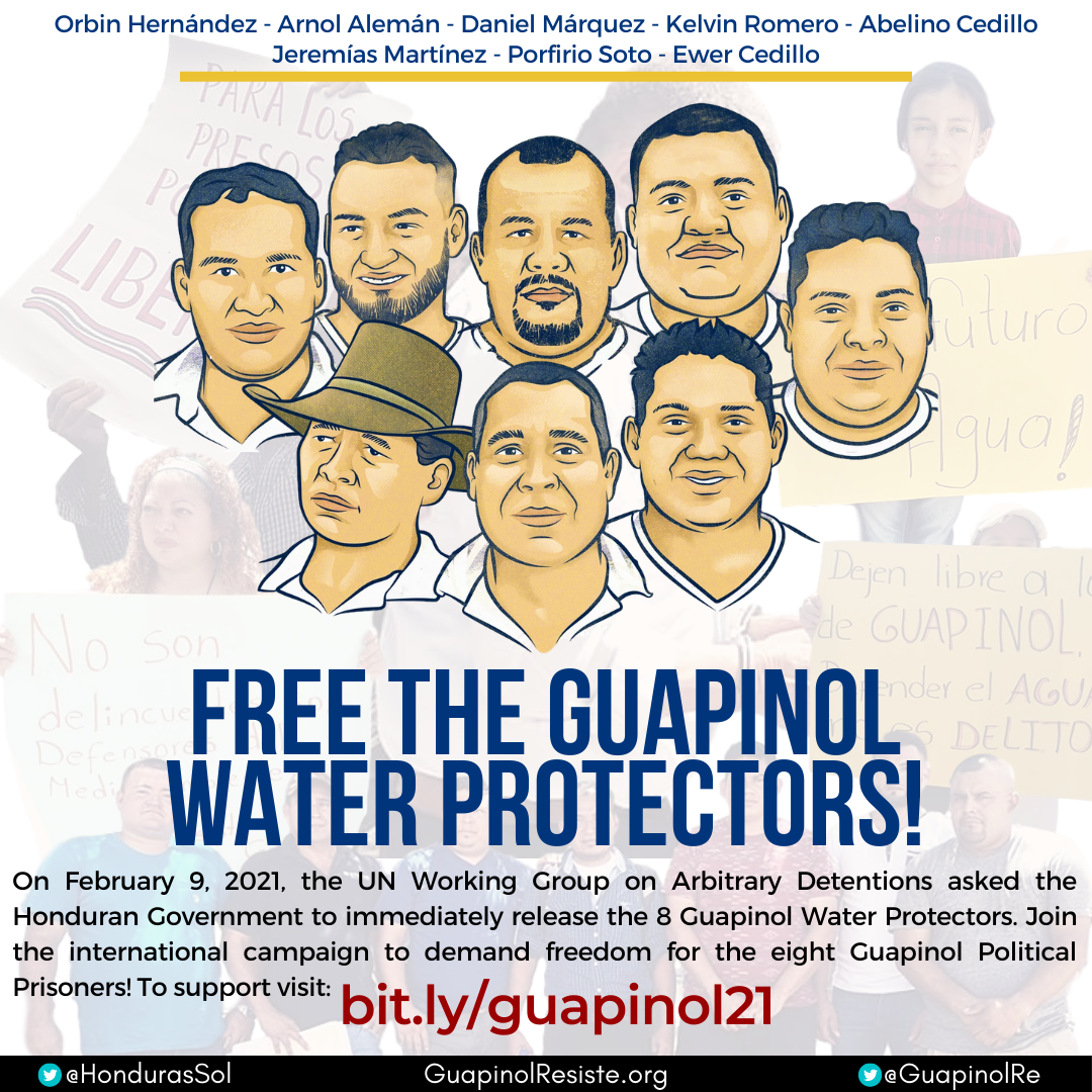 (English) Take action: Demand Freedom for the Guapinol Water Protectors!