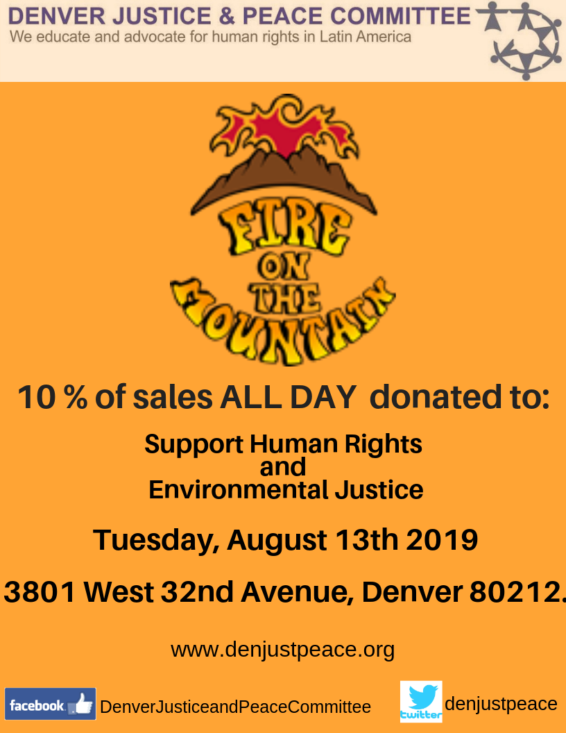 (English) Dine for Peace and Justice: August 13 2019