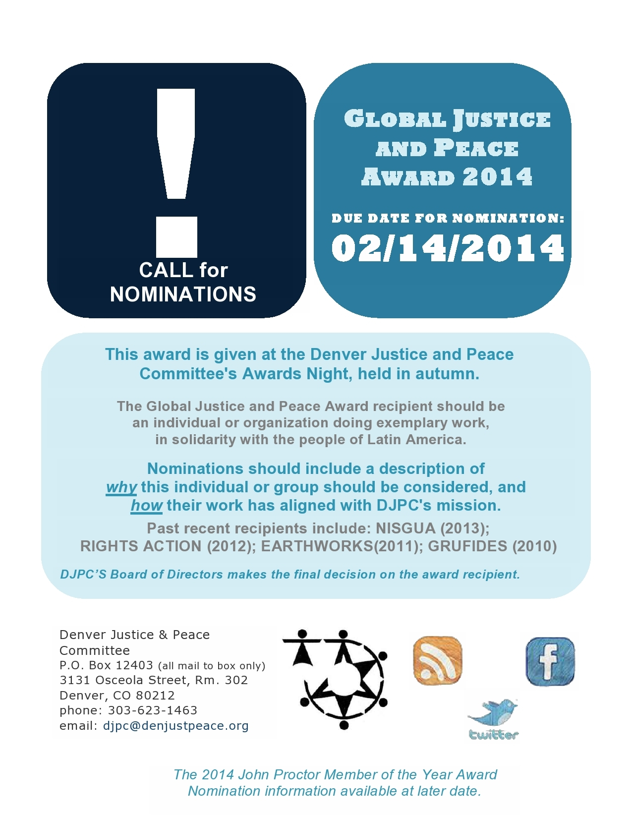 Call for Awards Nominations!