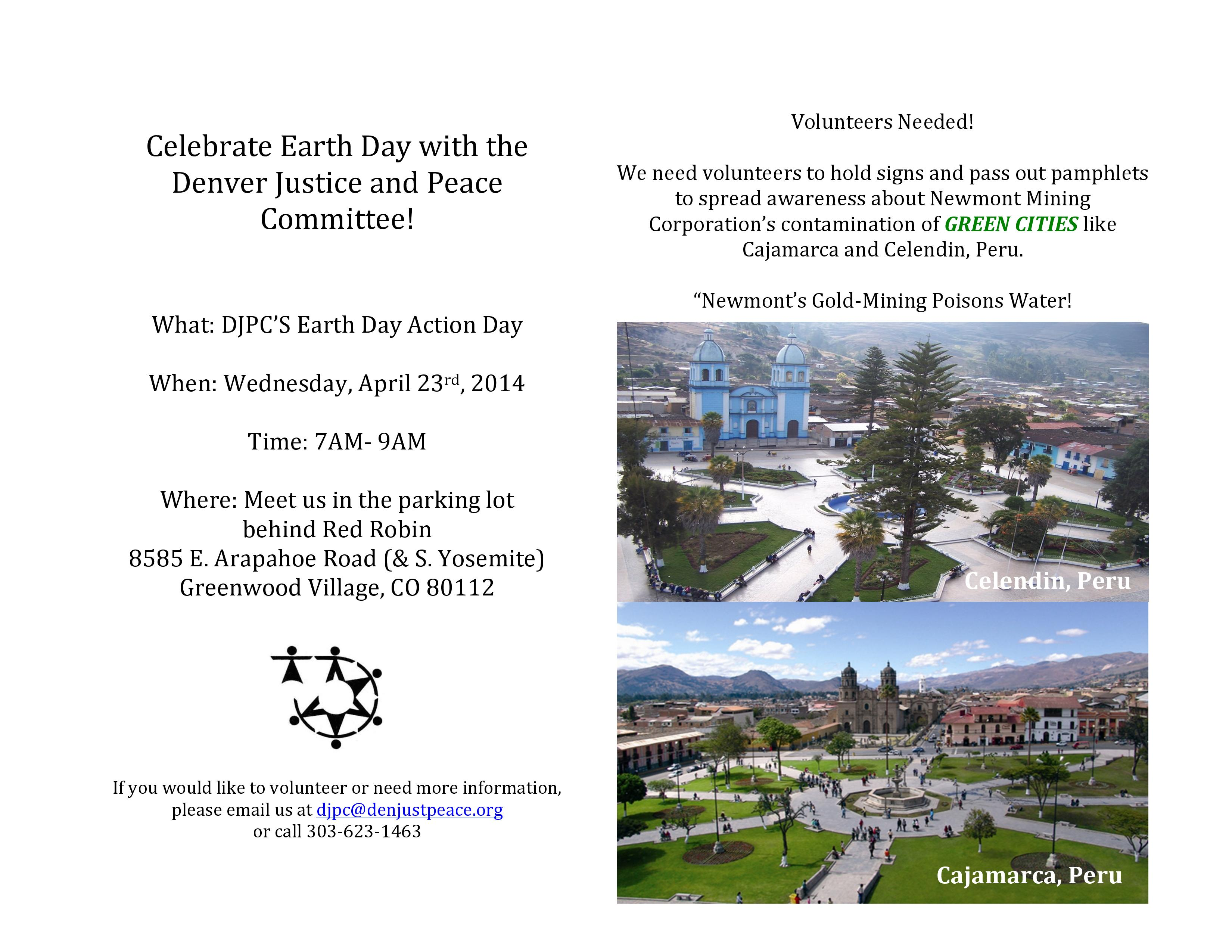 DJPC's Earth Day Action, April 23rd