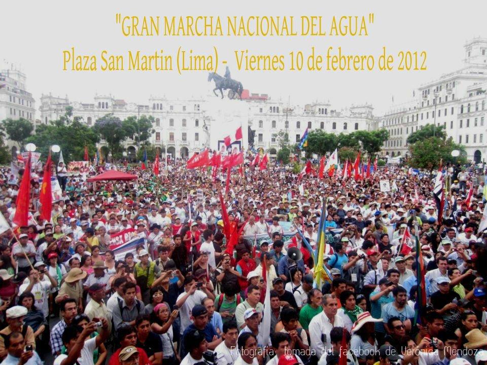 La Gran Marcha Nacional del Agua (no del Oro) en Lima.