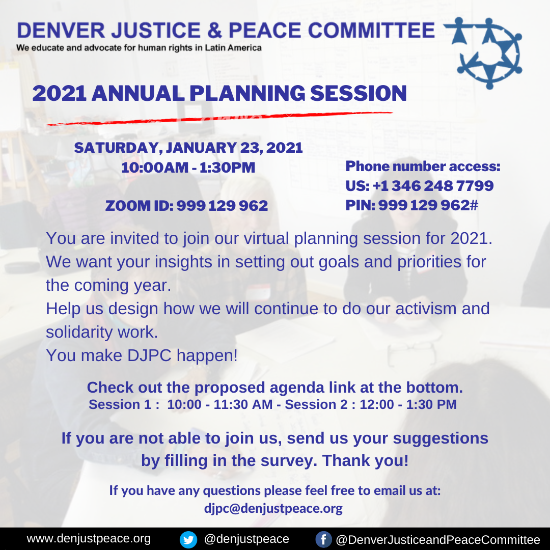 (English) You are invited to join our Annual Planning Meeting. Jan 23, 2021