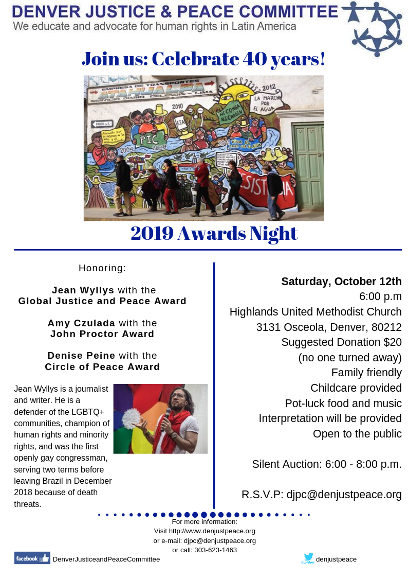 2019 Awards Night: Join us celebrate 40 years! October 12th at 6 p.m.