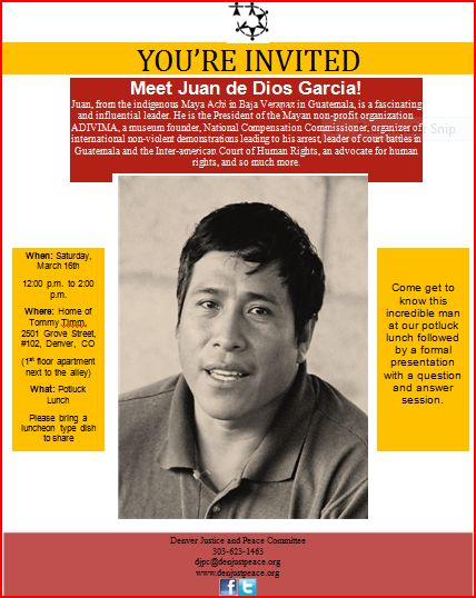 Luncheon with Juan de Dios – March 16th