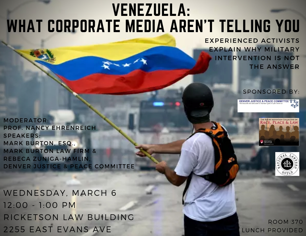 Panel: Venezuela: What Corporate Media aren't telling you. Why military intervention is not the answer.