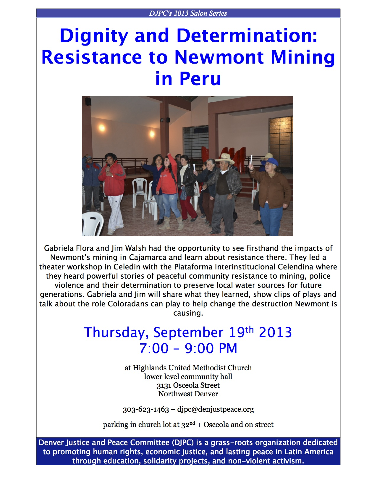 (English) September 19th Salon on Newmont Mining