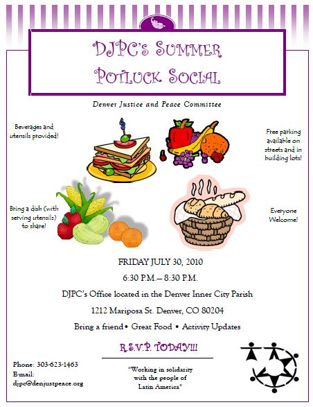 DJPC's Summer Potluck Social